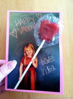 Affordable and easy optical illusion lollipop cards for valentines day. (p.s. I LOVE this woman's blog)