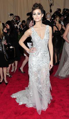 Emmy Rossum in Donna Karan Atelier + Iritdesign jewels, 2013 Met Gala