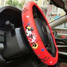 NEW Minnie Mouse Car Steering Wheel Cover 1pcs 2 Colors