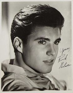 Ricky Nelson, Classic Hollywood, Old Hollywood, Franck Sinatra, Rick Y, Pretty Boys, Movie Stars, Rock And Roll, Beautiful Men