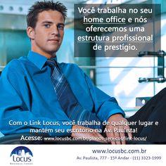 Você trabalha no seu home office e nós oferecemos uma estrutura profissional de prestígio. #homeoffice #linklocus http://www.locusbc.com.br/planos-servicos/link-locus/