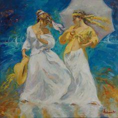 Antonio Duarte 'Sailing Day IV' oil on canvas, 2015. Framed dimensions 107 x 107cm. @marinamirage #AntonioDuarte #SailingDay