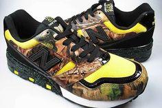 New Balance M575J 'Advantage Timber' Shoe Defies Flashy Design #camo #shoes trendhunter.com