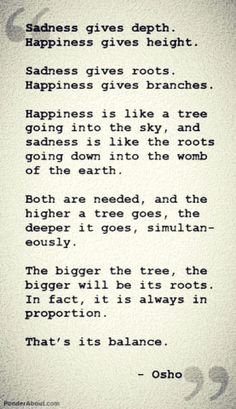 Between happiness and sadness...