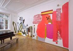 Monique Van Genderen  br / Installation view - 2007 br / br / Mural br / Vinyl, oil on wall  Voges + Partner Galerie, Frankfurt