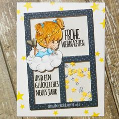 This time around I would like to share this angelic christmas card with you. You can find more pictures and information on my blog!  #christmas #christmascard #card #cardmaking #karte #weihnachtskarte #mft #arandomfan #engel #angel maikreations