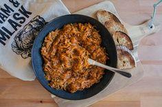 Má to šťávu!: Cuketová pomazánka na topinky Paella, Curry, Pork, Chicken, Meat, Ethnic Recipes, Kale Stir Fry, Curries, Pork Chops