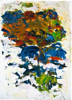 Yves, 1991. Oil on canvas, 110 1/4 x 78 3/4 inches (280 x 200 cm). Collection of the Joan Mitchell Foundation. © Estate of Joan Mitchell.