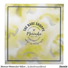Abstract Watercolor Yellow Challah Dough Cover Cloth Napkin