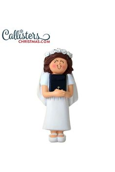 Celebrate this special time in your child's faith journey. Commemorate their receiving of the sacrament of the Eucharist with our personalized First Holy Communion ornaments. First Communion Gifts, First Holy Communion, Eucharist, Personalized Ornaments, How To Make Ornaments, Gifts For Boys, Your Child, Brown Hair, Boy Or Girl