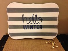 Hello Winter Wood Sign by CreightonCreative on Etsy, hello winter, wood signs, wall decor, holiday decor  Follow @CreightonCreativeShop on instagram for special offers