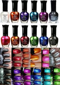 Amazon.com: Kleancolor Nail Polish - Awesome Metallic Full Size Lacquer (Set of 12 Pieces): Beauty