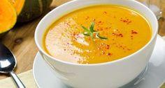 Sopa de abóbora com ricota Receita é nutritiva e ajuda na dieta por Mariana Bueno