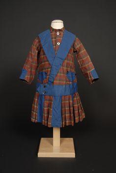 Boy's plaid suit dress, circa 1881-1882