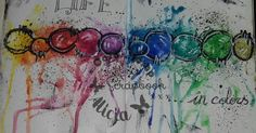"""Art Journal Page """"life in colors"""""""