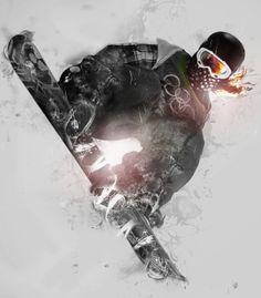 snow boarding!! Hell ya son