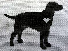 X-stitch Labrador with heart Cross Stitch Heart, Cross Stitch Cards, Cross Stitch Animals, Counted Cross Stitch Patterns, Cross Stitching, Cross Stitch Embroidery, Cross Stitch Silhouette, Crochet Cross, Dog Pattern