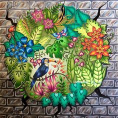 Magical Jungle meets the concrete jungle. Finally finished my first page from…