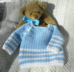 Handmade Baby, Handmade Clothes, Handmade Gifts, Sweater Hat, Boys Sweaters, Pastel Blue, Stitch Patterns, Crochet Patterns, Pink Girl