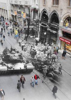 İstiklal Caddesi 6-7 Eylül Füsun Turcan Elmasoğlu Olay, Old Photos, Istanbul, Times Square, Nostalgia, Street View, History, Wallpaper, World