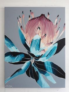 Buy online an Open Edition Art Print of an original Anya Brock painting. Cute Canvas Paintings, Beautiful Paintings, Watercolor Paintings, Original Paintings, Canvas Prints, Art Prints, Protea Art, Abstract Flower Art, Batik Art