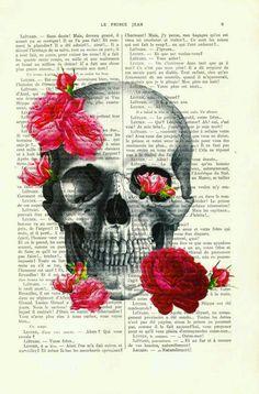 Referências Caveira e rosas