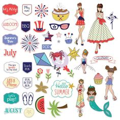 Prima Marketing - Julie Nutting Ephemera - July/Aug now available at The Rubber Buggy Free Planner, Printable Planner, Planner Stickers, Printables, Hello Summer, Summer Fun, Prima Marketing, Scrapbook Supplies, Scrapbooking Ideas