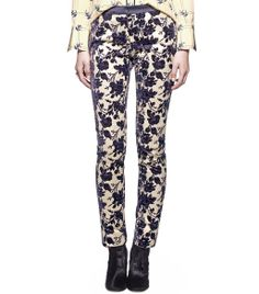 Floral Pants - Tory Burch