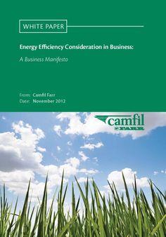 Energy Efficiency Consideration in Business Camfil UK Whitepaper