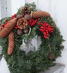 013-Hjemmelaget dørkrans til jul