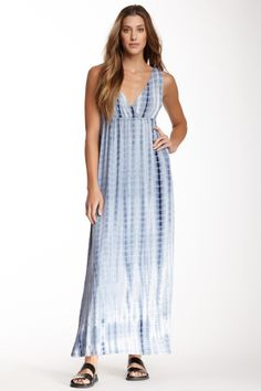 Tie-Dye V-Neck Maxi Dress