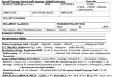 Speech & Language/Cognitive   Adult Assessment  for SNF/LTC Unit