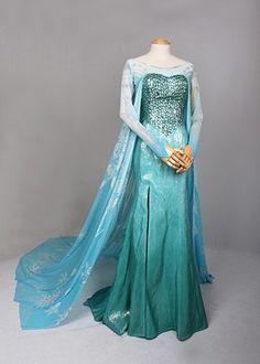 J711 Movies Frozen Snow Queen Elsa Cosplay Costume by angelssecret