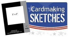 card sketches with measurements!! make for fast cards!