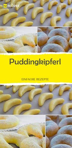 Puddingkipferl - finished within 20 minutes - Lecker Essen & Rezepte - cupcakes Dog Recipes, Sweet Recipes, Cooking Recipes, Delicious Cookie Recipes, Dessert Recipes, Yummy Food, Sugar Cookies Recipe, Yummy Cookies, Cupcakes