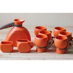 Midcentury Stoneware Orange