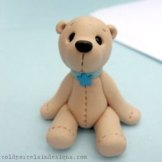 teddy bear and lots of other cute clay animals and toys (inspiration only)