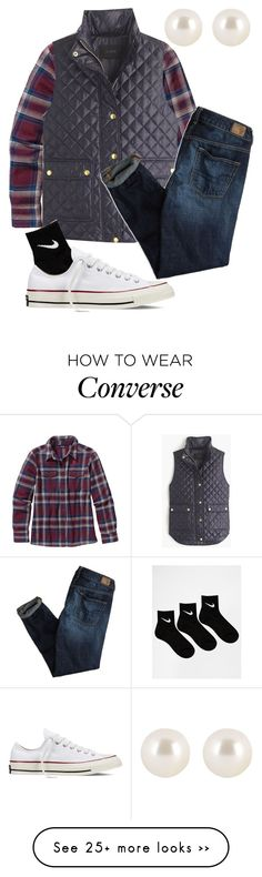 """""""See YOU At The Pole"""" by preppyyankee on Polyvore featuring Patagonia, J.Crew, American Eagle Outfitters, NIKE, Converse and Henri Bendel"""