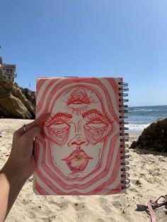 Credit to the owner 🌼 Arte Indie, Indie Art, Cool Art Drawings, Art Drawings Sketches, Indie Drawings, Arte Grunge, Hippie Painting, Art Diary, Arte Sketchbook