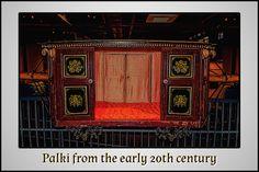 Palki that belonged to a princely state in the Chotta Udaipur region in Gujarat!   #Palanquin #Palki #VintageCollection #Vintage #Heritage #TransportMuseum #Gurugram #Manesar #IncredibleIndia #Exhibit