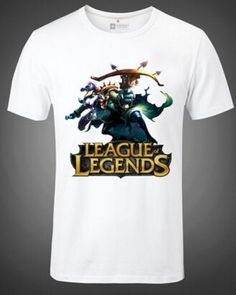 League of Legends plus size tshirt for men short sleeve Twitch-