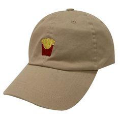 Capsule Design French Fries Cotton Baseball Dad Cap Khaki 897cbb3bbe09