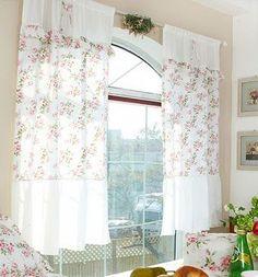 шторы на кухню в стиле Прованс: