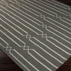 Hand-woven Lelystad Grey Wool Rug (2' x 3') | Overstock.com Shopping - Great Deals on Accent Rugs