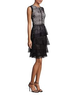 Tiered Lace Dress by Prose & Poetry at Gilt