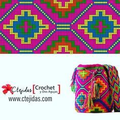Triforce-iltalaukku pattern by Molla Mills Tapestry Crochet Patterns, Bead Loom Patterns, Crochet Stitches, Cross Stitch Patterns, Knitting Patterns, Loom Bands, Mochila Crochet, Crochet Diy, Tapestry Bag