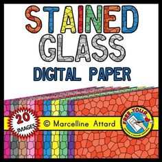 #STAINED #GLASS #DIGITAL #PAPERS - #CLIPART