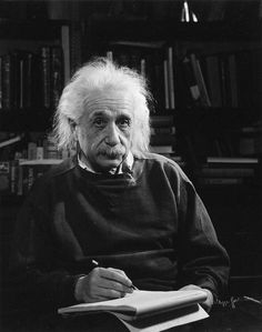 The Man: Albert Einstein, 1947. Photo by Philippe Halsman, one of the great portrait photographers of the 20th century. Einstein was always thinking about the unthinkable. What about you?