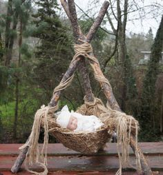 Image of Woodsy Wonders Woodland Nesting Pod, Rustic Newborn Photography Prop