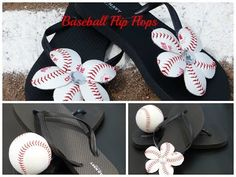 How To Make Baseball Flip Flops | Baseball Flip Flop Flowers - YouTube